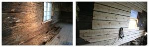 Lahovaurion restaurointi - Restaurering av rötskada