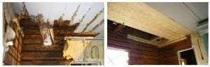 Lahonneen välikaton restaurointi - Restaurering av mellantak